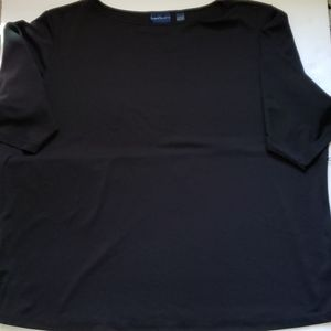 Black half sleeve top with loops to hold small acc